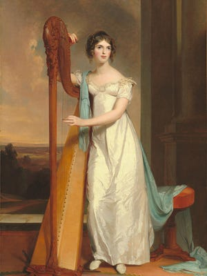 Lady With a Harp by Thomas Sully, 1818.