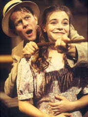 "Zach Fischer and Stephanie Timm perform in Willamette University's 1995 production of ""Dancing at Lughnasa."" Fischer went on to a successful acting career. Timm is now a successful playwright and performance artist."