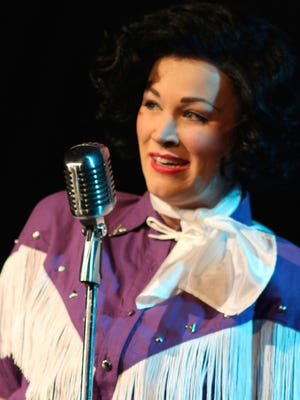 """The Candlelight Theatre's production of """"Always … Patsy Cline,"""" starring Erica Scanlon Harr as Patsy."""