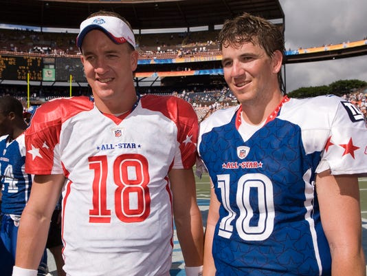 Peyton eli glad to be getting manning bowl iii out of way story highlights peytons team won first two manning m4hsunfo