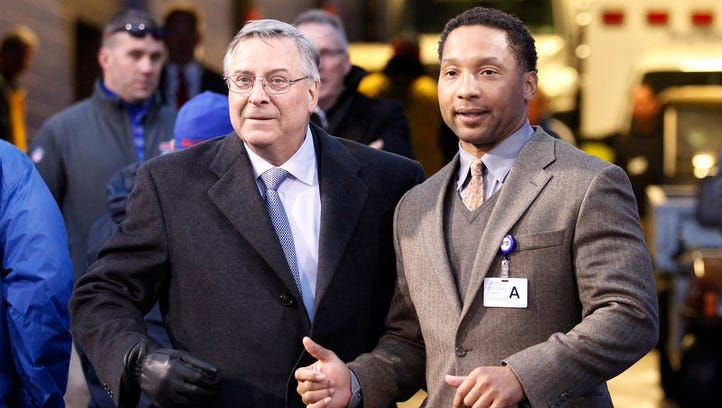 Bills owner Terry Pagula, left, and general manager