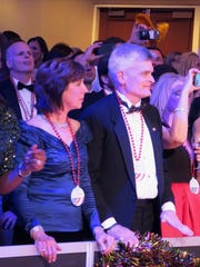 Dr. Laura Cassidy and her hubby, U.S. Sen. Dr. Bill Cassidy, at Washington Mardi Gras Ball.