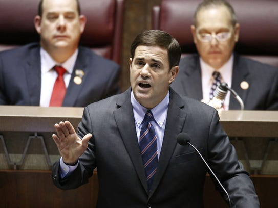 Gov. Doug Ducey speaks during his State of the State