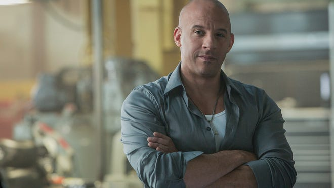 Vin Diesel as Dom Toretto in a scene from 'Furious 7.'