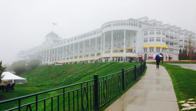 The Grand Hotel on Mackinac Island, seen here on  misty day in 2015, will once again host the Detroit Regional Chamber's annual Mackinac Policy Conference in 2016.