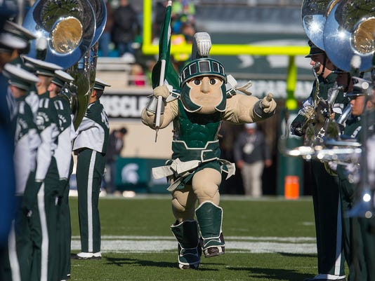 Rutgers v Michigan State, Sparty mascot