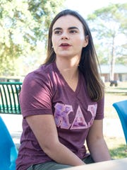 Kappa Delta Chi sister Leonie Dupuis talks about Greek Life at the University of West Florida on Monday, November 13, 2017.