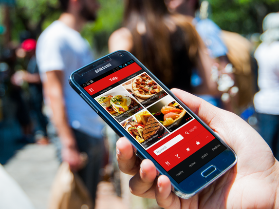 The online recommendations app Yelp.