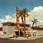 "THEN: The Sahara Motor Inn opened at First and Polk streets in downtown Phoenix. Marilyn Monroe stayed in the three-room penthouse suite overlooking the pool while she was in town to shoot the movie ""Bus Stop."" The hotel became a Ramada Inn in the 1960s."