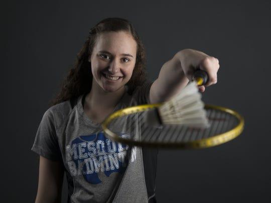 Mesquite's Natalie Weber, junior badminton player,