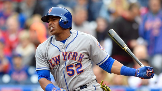 Yoenis Cespedes has hit .282 with a .554 slugging percentage since joining the Mets and led the team to the playoffs in back-to-back years.