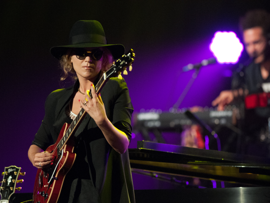 Melody Gardot led her seven-piece band at two sold-out