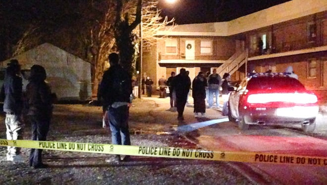 A 33-year-old man's death at Crest View apartments on Crescent Avenue is currently under investigation according to Interim Police Chief Julian Wiser. Family and friends were distraught and were screaming and crying while police investigated Monday evening.