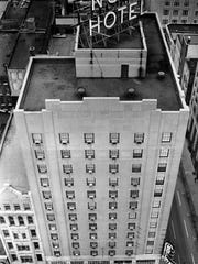 The Noel Hotel opened in 1930 at the corner of Fourth Avenue and Church Street and took in guests until closing in 1972, the year of this photo.