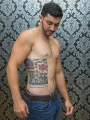 Michael Anthony Cascio III got his elaborate tattoo