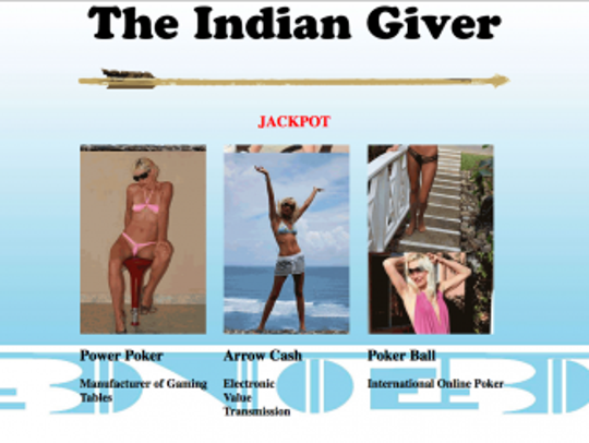 """""""The Indian Giver Jackpot,"""" which appears on Brad Cates'"""
