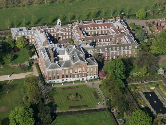 Kensington Palace in Hyde Park in London.