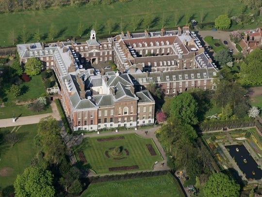 Kensington Palace in Hyde Park in London.