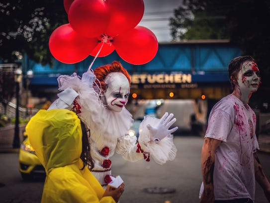 """Pennywise, the creepy clown in Stephen King's """"IT"""""""