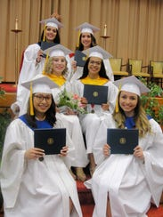 (Bottom row from left) Camille Martinez and Alexandra
