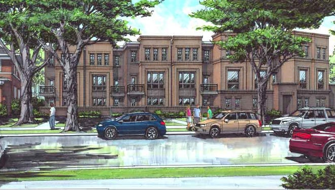 A rendering of the 15-unit The Jenkins townhomes planned in the Bemont-Hillsboro neighborhood.
