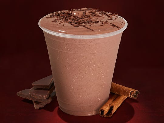 The Mexican chocolate shake, an experimental menu item