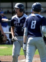 Lancaster's Jake Richards celebrates after scoring a run during the 2018 Division I regional semifinal. The Golden Gales are hoping to make a return trip to the Sweet 16 this season. On Sunday, Lancaster was awarded with the No. 2 seed out of 48 teams at the Central District tournament draw.