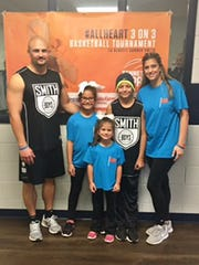 Gunner Smith with his family at the #AllHeart 3-on-3