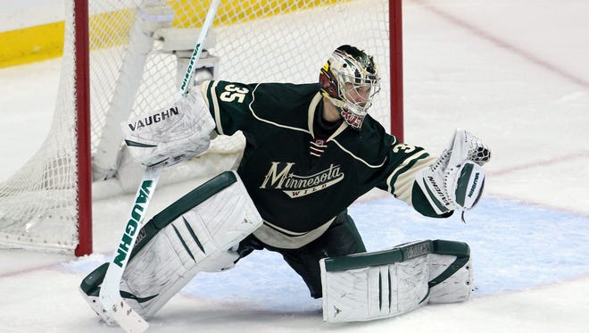 Minnesota Wild goalie Darcy Kuemper was promoted in January and helped the team clinch a playoff berth.