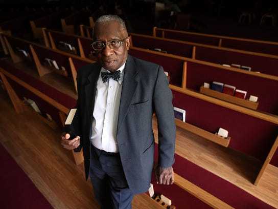 Pastor France A. Davis poses for a portrait at Calvary Baptist Church in Salt Lake City on Wednesday, March 28, 2018. Davis knew Rev. Dr. Martin Luther King Jr. and draws inspiration from his work.