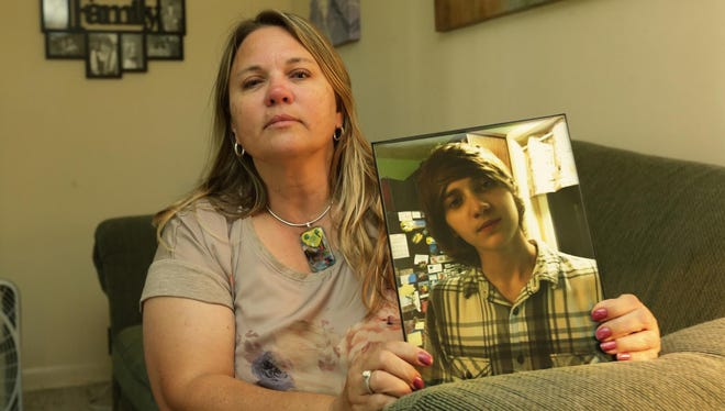 Tammy Brylski holds onto one of the few photos of her son Max Brylski who ran away from shelter care and has not been seen or heard from since June 6. Out of 104 instances of runaways, there's only one, Max Brylski, that authorities have not tracked down. Any information about Max Brylski or his whereabouts should be directed to the Winnebago County Sheriff's Department.