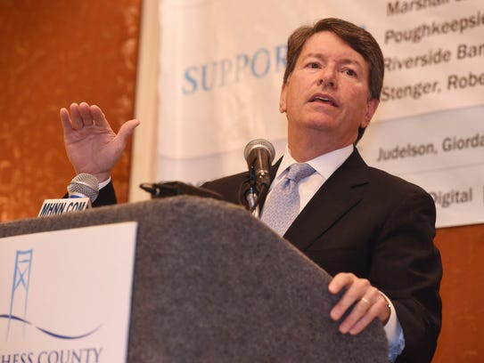 Rep. John Faso speaks at Wednesday's Dutchess County