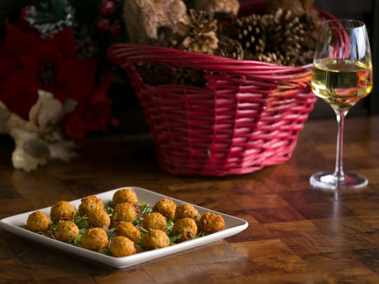 Jalapen–o and truffle cheese fritters, a great holiday appetizer are seen at the J&G Steakhouse at the Phoenician in Scottsdale on December 1, 2016.
