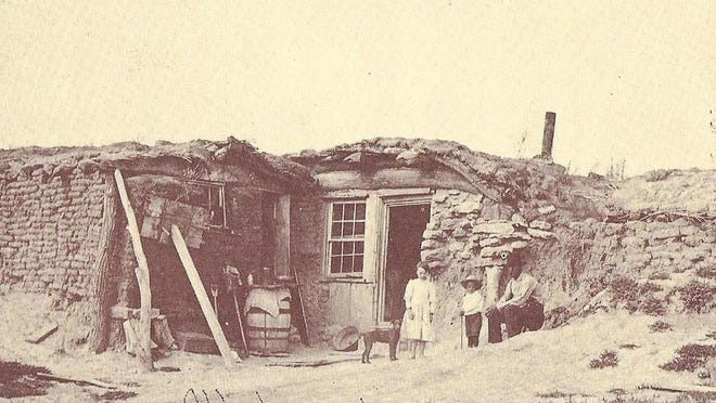 A dugout style sod house. SUBMITTED PHOTO