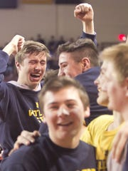 After five losses in state finals, Hartland celebrated a state wrestling championship in 2016.