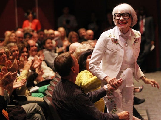 Carol Channing us seen at the Helene Galen Performing Arts Center at Rancho Mirage High School in 2013,