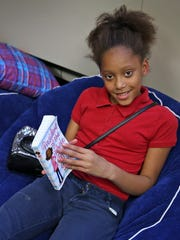 Damya Lee, 11, finds peace and relaxation at the Martin
