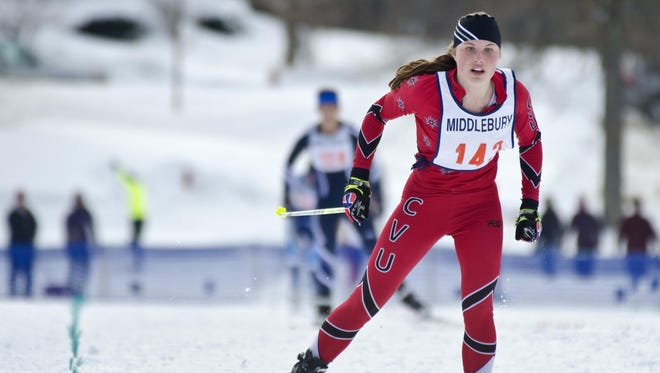 Autumn Eastman had a first-place finish and a runner-up at the Nordic skiing state championships this winter.