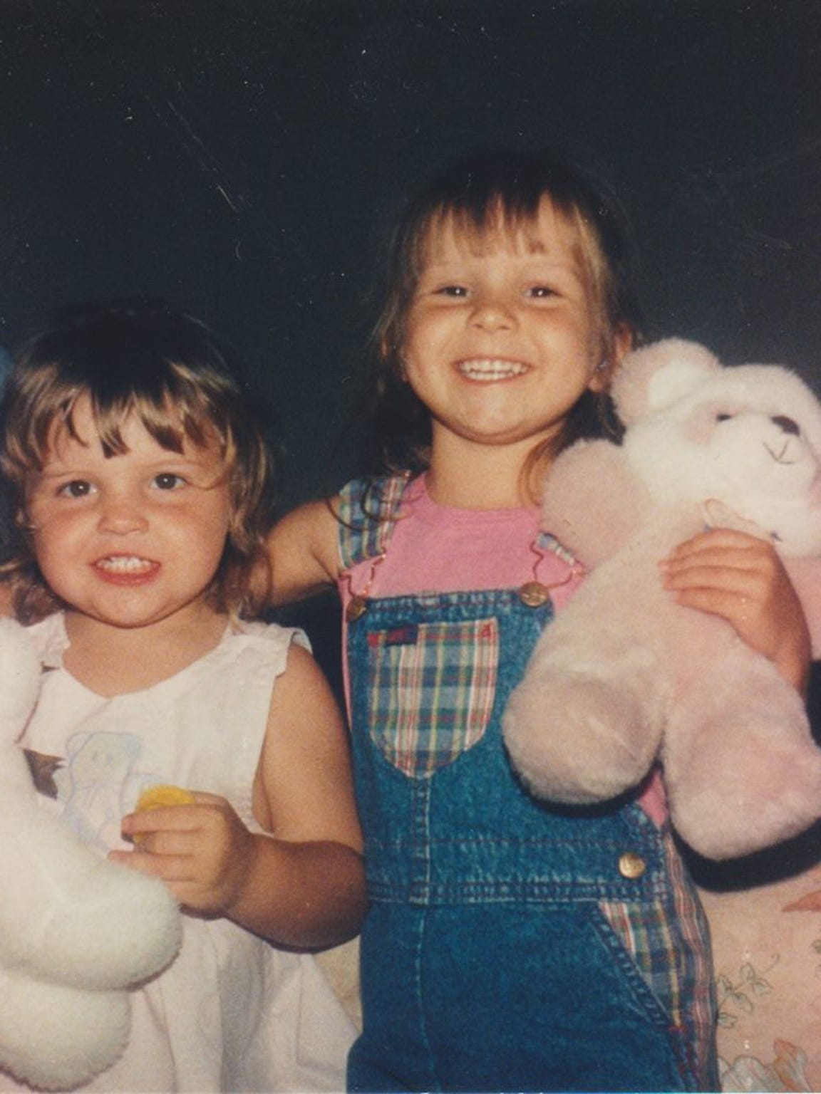 Heather Bogle, right, with sister Jennifer Bogle, when