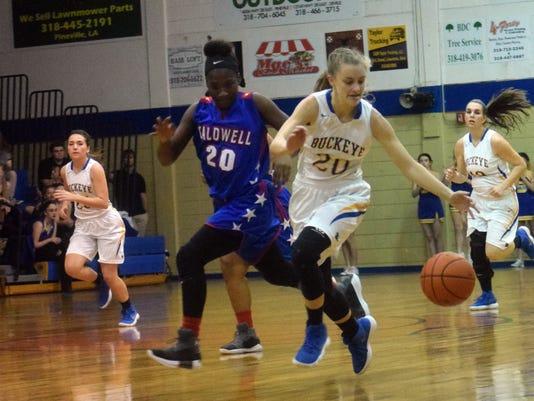 Buckeye High School girls' basketball team vs. Caldwell Parish High School Friday, Dec. 22, 2017.