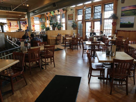The dining room at the Gilded Otter Brewing Company
