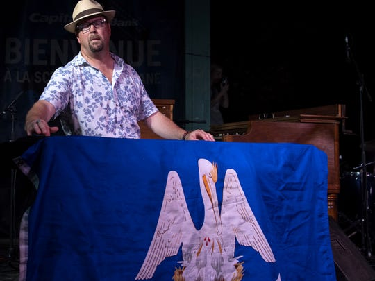 Eric Adcock plays piano and organ with the Hub City All Stars.