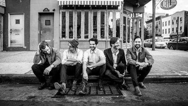 Rocket & The Ghost are, from left, Stuart Bidwell (drums), Sean Gavigan (guitar), Alan Markley (keyboards), Brian Kesley (bass) and Kiyoshi Matsuyama (songwriter/vocals/guitar).