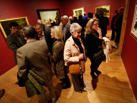 Patrols take in a preview of the Jamie Wyeth exhibit at the Brandywine River Museum of Art.