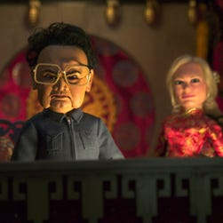 "Kim Jong Il gets killed in the film ""Team America"" in 2004."