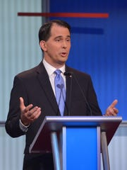 Wisconsin Gov. Scott Walker participates in the GOP