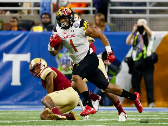 Terrapins wide receiver D.J. Moore was named Big Ten's top receiver in 2017.