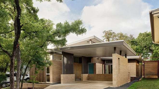 Neslie Cook's home in East Austin was designed by architect Mark Odom of Mark Odom Studio and built by Doug Cameron of Eco Safe Spaces. It was made to look like a midcentury modern home, but it was finished in 2019.