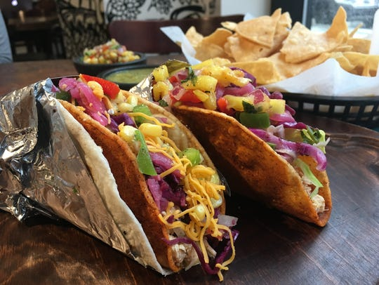 Fill spicy crunchy tortillas by themselves or doubled up with soft flour tortillas with whatever you like at the build-your-own-taco restaurant Condado, opening April 11, 2019 on Mass Ave. in downtown Indianapolis.