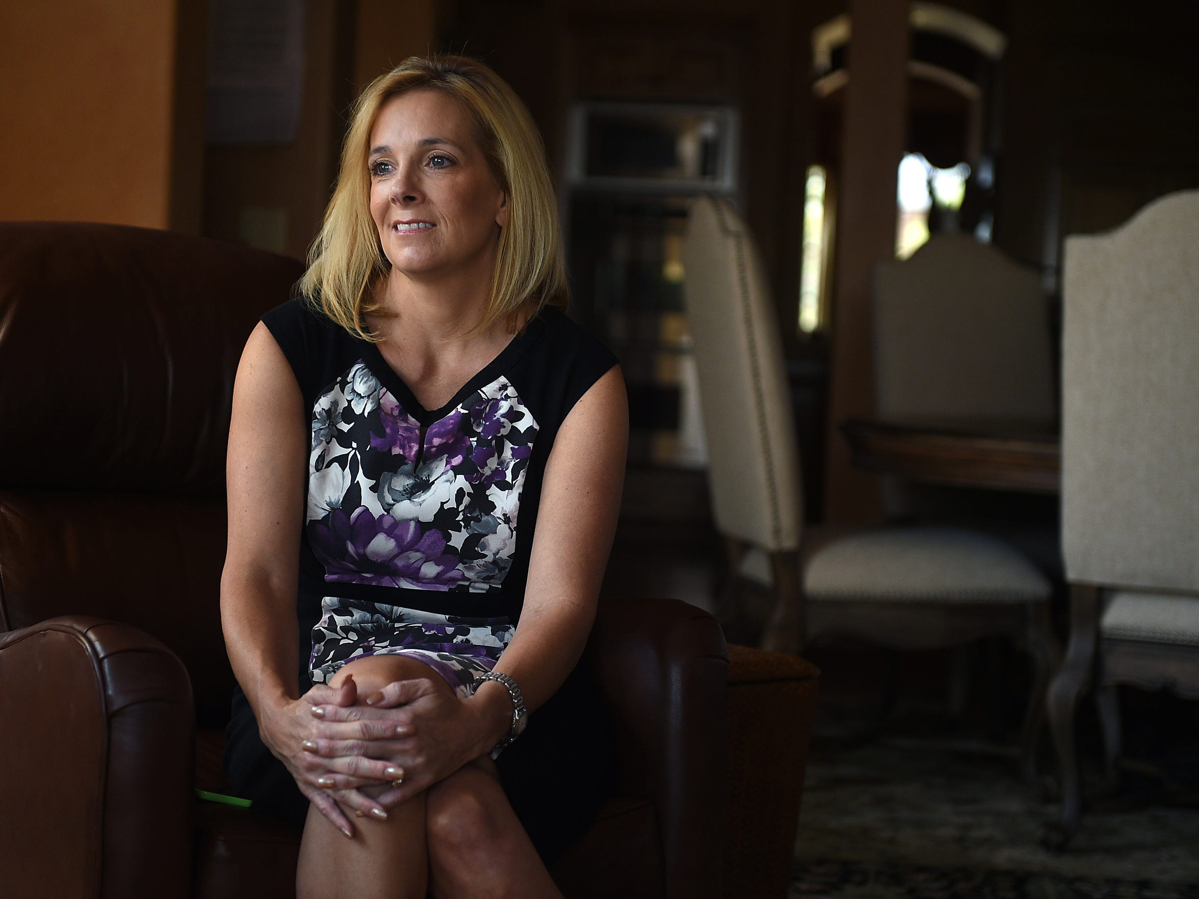 Reno City Councilmember Neoma Jardon speaks to the Gazette-Journal about her experience battling breast cancer in her home in Reno on Sept. 1, 2015.